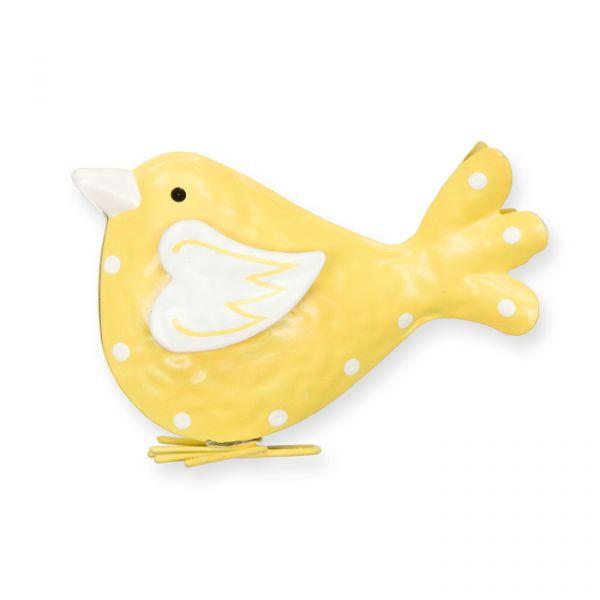 """Metall-Aufsteller """"Vogel"""" yellow/off-white Hauptbild Detail"""