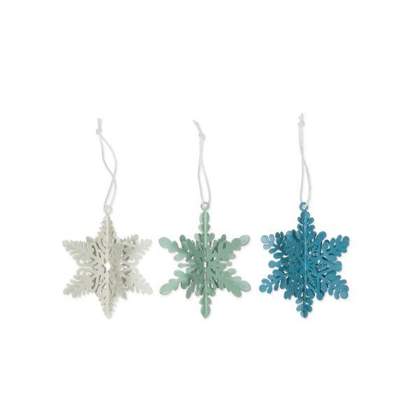 """Metall-Hänger """"Eiskristalle"""" sage green/dusky blue/off-white Hauptbild Detail"""