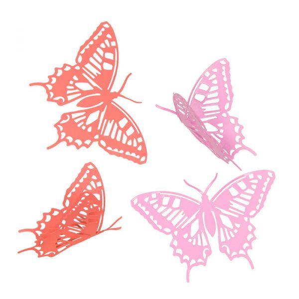 """Metall-Deko """"Schmetterlinge"""" pink/coral Hauptbild Listing"""