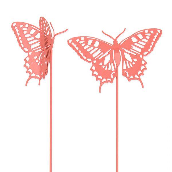 """Metall-Stecker """"Schmetterlinge"""" coral Hauptbild Detail"""