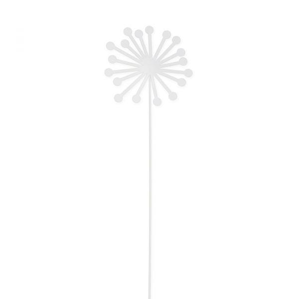 "Metall-Stecker ""Blüte"" white Hauptbild Detail"
