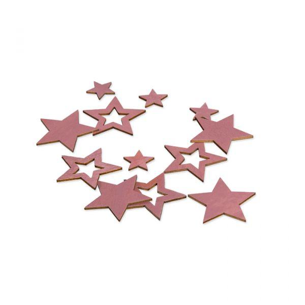 "Holz-Streudeko ""Sterne"" dusky pink Hauptbild Listing"