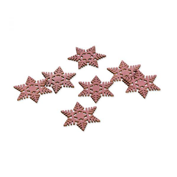 "Holz-Streudeko ""Eiskristalle"" dusky pink Hauptbild Listing"