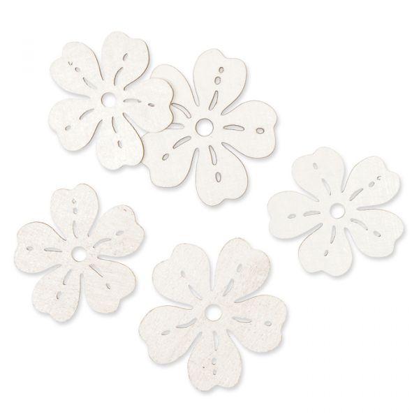 "Holz-Streudeko ""Blumen"" white Hauptbild Listing"