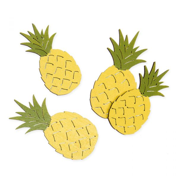 "Holz-Streudeko ""Ananas"" yellow/green Hauptbild Listing"