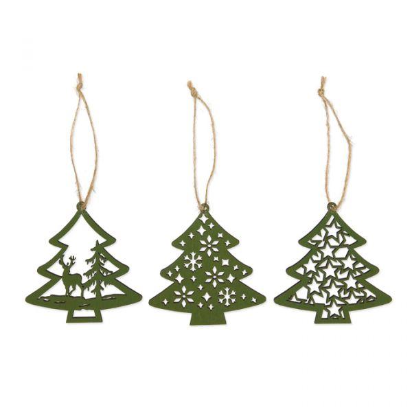 Holz-Weihnachtshänger green - tree Hauptbild Detail