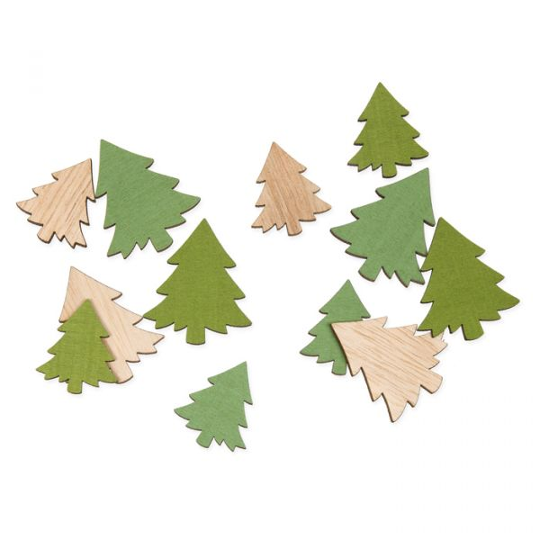 "Holz-Streudeko ""Tannen"" light olive/green/natural Hauptbild Listing"