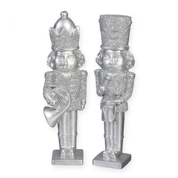 """Deko-Figur """"Nussknacker"""" silver glitter Hauptbild Detail"""