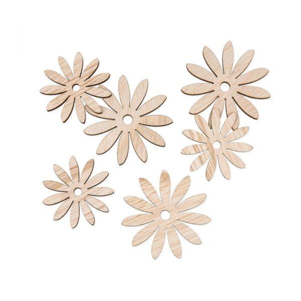 "Holz-Streudeko ""Blüten"" natural Hauptbild Listing"
