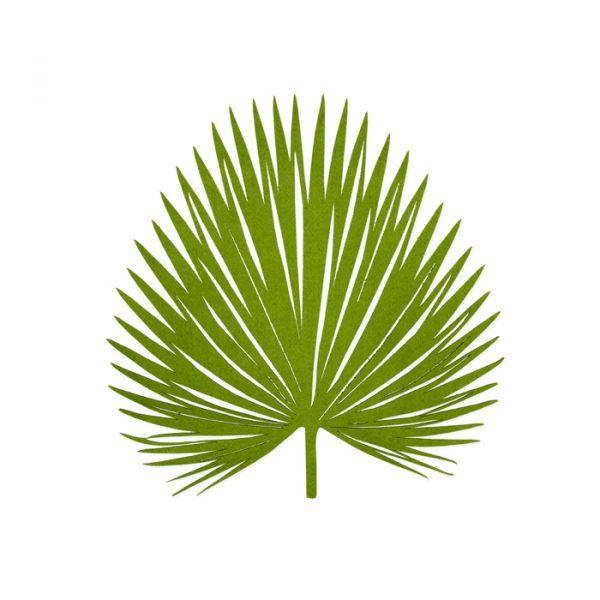 """Filz-Deko """"Blätter"""" moss green Hauptbild Detail"""