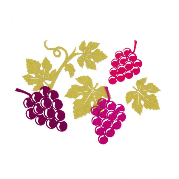 "Filz-Sortiment ""Weintrauben"" purple/erica/berry/reed green Hauptbild Listing"