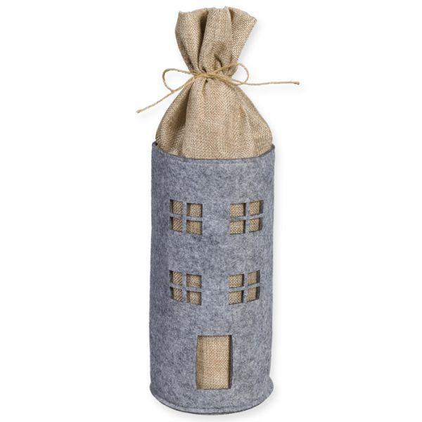 "Geschenktasche ""Haus"" light grey/natural Hauptbild Detail"