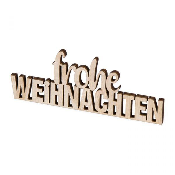 """Holz-Aufsteller """"frohe WEIHNACHTEN"""" natural Hauptbild Listing"""