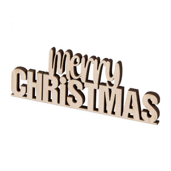 "Holz-Aufsteller ""merry CHRISTMAS"" natural Hauptbild Listing"
