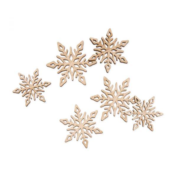 """Holz-Streusortiment """"Eiskristalle"""" natural Hauptbild Listing"""