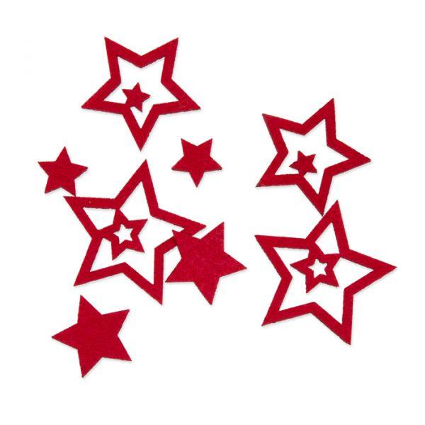 """Filzsortiment """"Sterne"""" red Hauptbild Listing"""