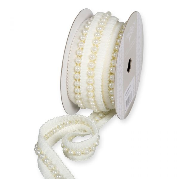 Litzenband mit Perlenschnur off-white/gold Hauptbild Listing
