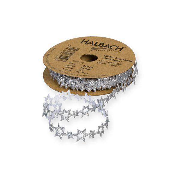 "Glitter-Stanzband ""Sternchen"" silver/glitter Hauptbild Listing"