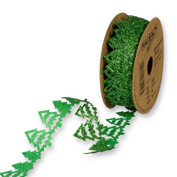 """Glitter-Stanzband """"Bäume"""" green/glitter Hauptbild Listing"""