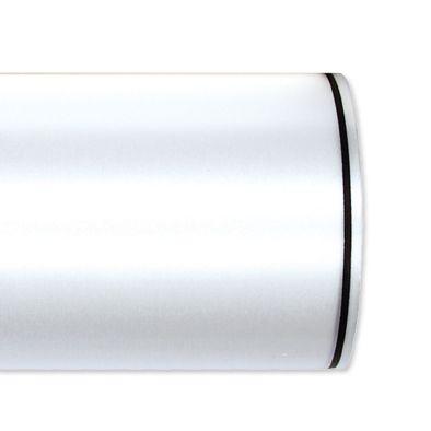 Schnittsatin / weiß mit Randstreifen white/black Hauptbild Detail