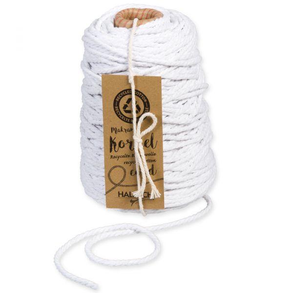 Kordel aus recycelter Baumwolle 5mm white Hauptbild Detail