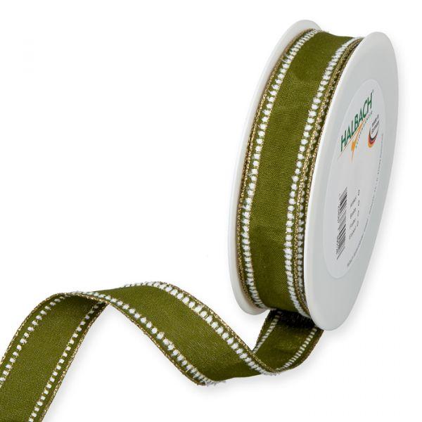 Dekorationsband olive green/white/gold Hauptbild Listing