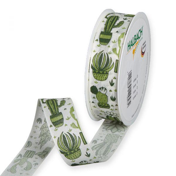 "Druckband ""Kaktus"" cream/green Hauptbild Listing"