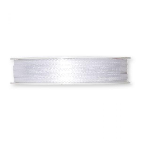 Doppelsatin-Band white Hauptbild Detail
