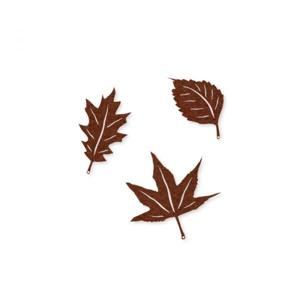 "Filz-Sortiment ""Herbstblätter"" brown Hauptbild Detail"