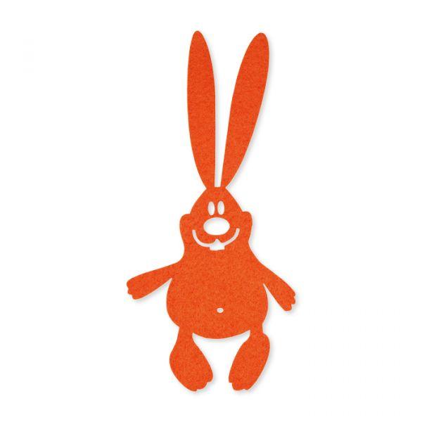 "Filz ""Hasen"" orange Hauptbild Detail"