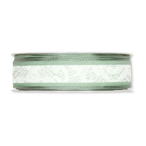 """Druckband """"Spitze"""" mint/jade/white Hauptbild Detail"""