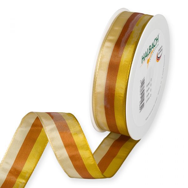 Streifenband dusky yellow/cognac/honey Hauptbild Listing