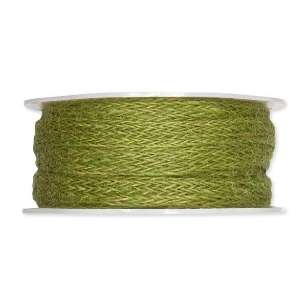 Jute Flechtband moss green Hauptbild Detail