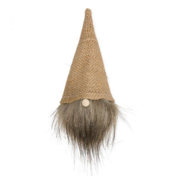 Wichtel-Mütze mit Kunstfellbart brown Hauptbild Detail