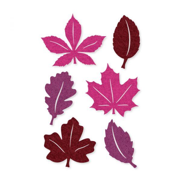 """Filz-Sortiment """"Herbstblätter"""" selbstklebend purple/violet/wine red Hauptbild Detail"""