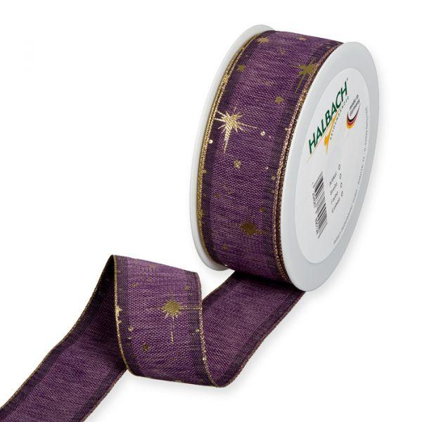 "Druckband ""Sterne"" lavender/gold Hauptbild Listing"