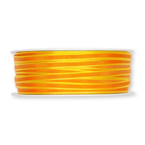 Taftbändchen orange/lemon Hauptbild Detail