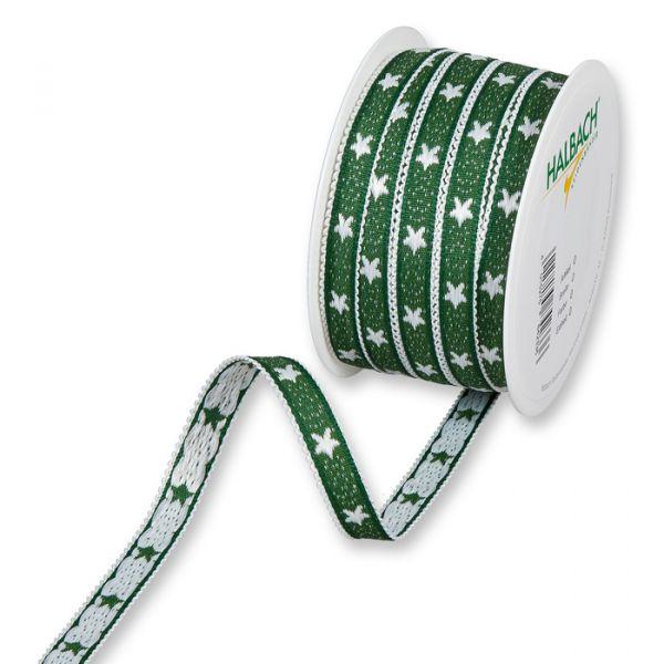 """Dekorationsband """"Sterne"""" dark green/white Hauptbild Listing"""