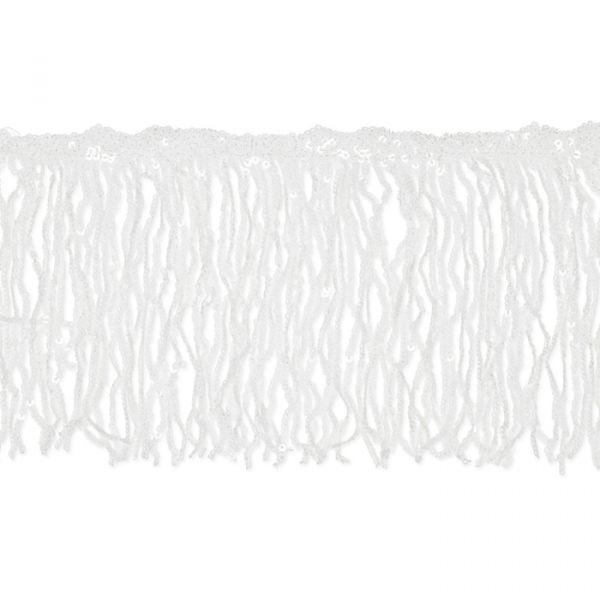 Pailletten-Fransen white Hauptbild Detail