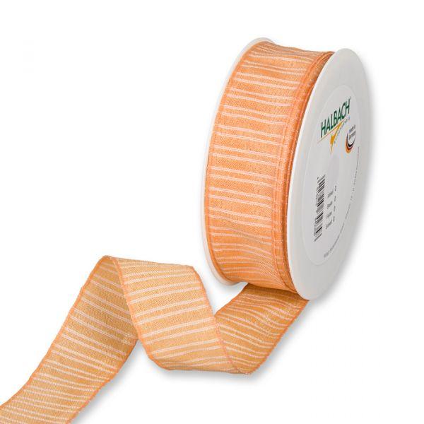 Dekorationsband apricot/white Hauptbild Listing