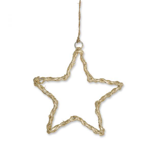 """Weiden-Hänger """"Stern"""" und """"Baum"""" natural/gold glitter - star Hauptbild Detail"""