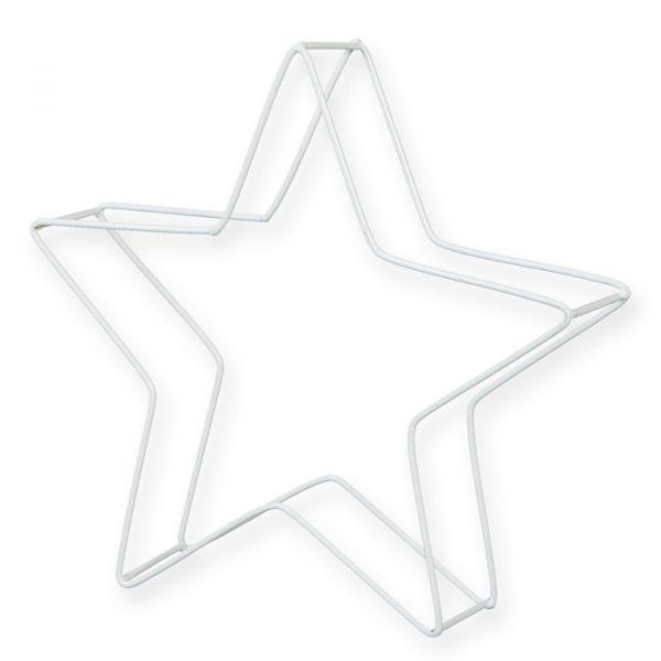 """Metall-Aufsteller """"Stern"""" white Hauptbild Detail"""