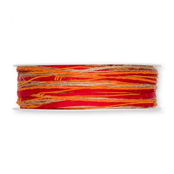 Materialmix-Kordel dark orange Hauptbild Detail