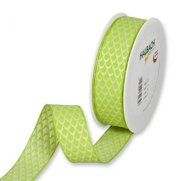 "Dekorationsband ""Bogenmuster"" green/cream Hauptbild Listing"