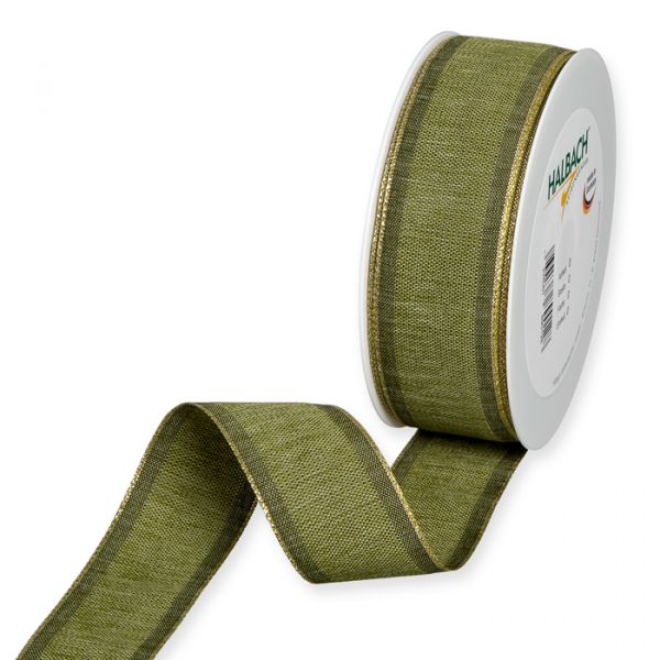 Dekorationsband olive green/gold Hauptbild Listing