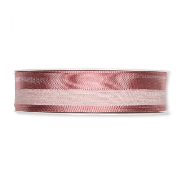 """Streifenband """"Materialmix"""" dusky pink Hauptbild Detail"""