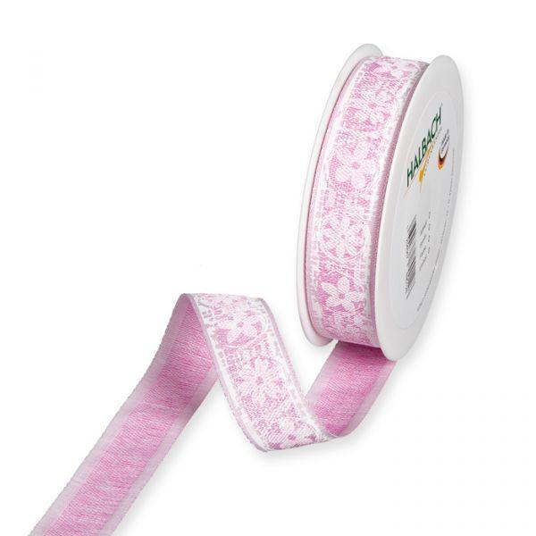 "Druckband ""Blüten"" pink/white Hauptbild Listing"