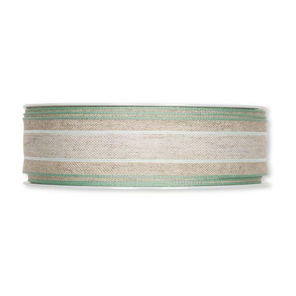 Leinenband natural/pale mint/mint Hauptbild Detail