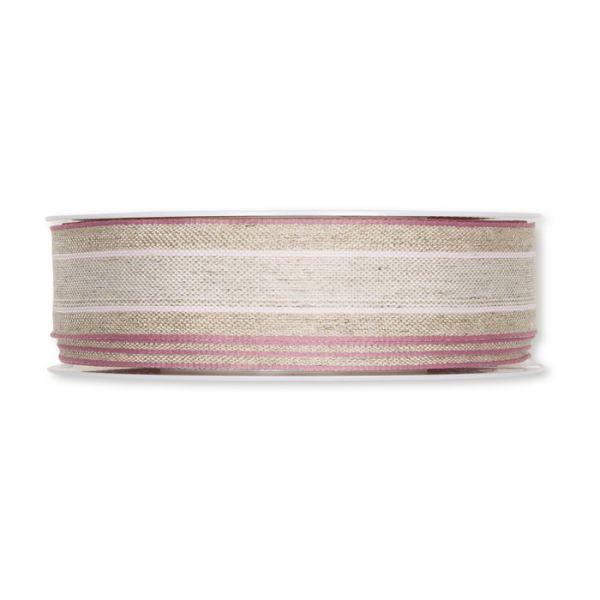 Leinenband natural/pale rose/pale berry Hauptbild Detail