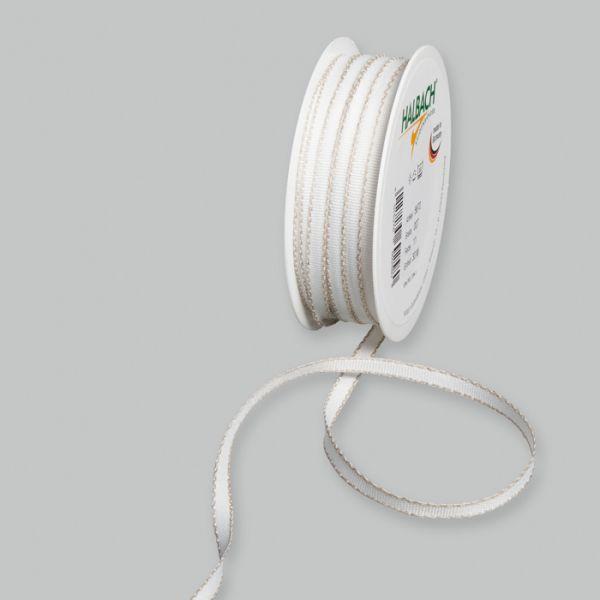 Dekorationsbändchen mit Leinenkanten white/linen Hauptbild Listing